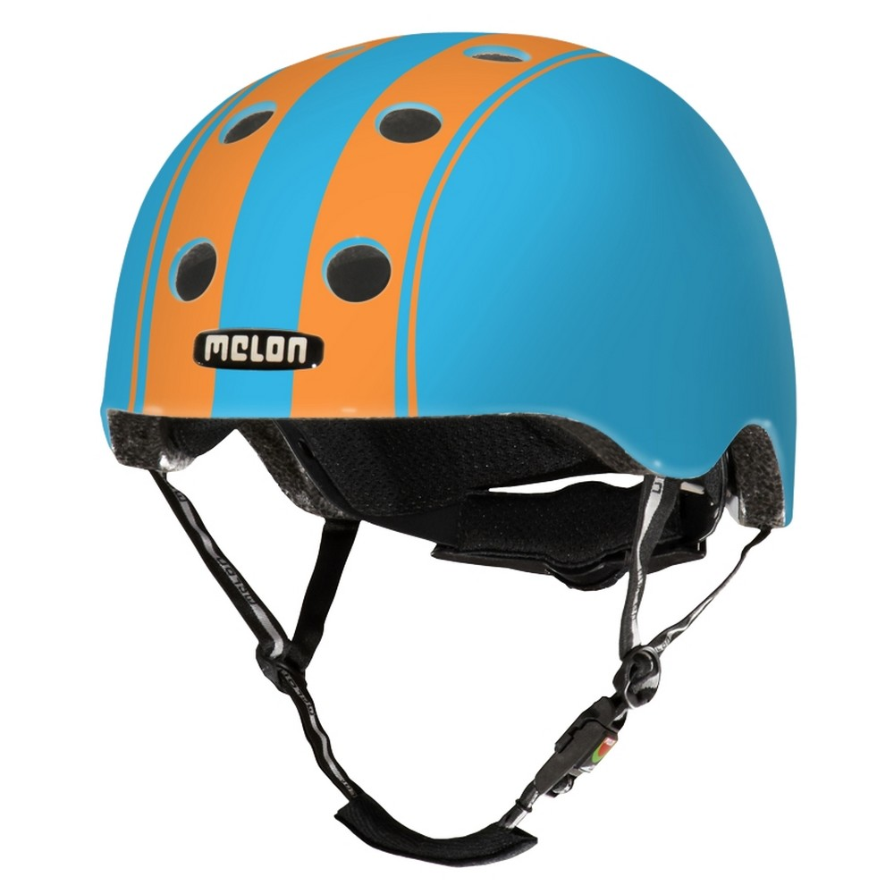 Casque Melon Stripe Tease Double Bleu