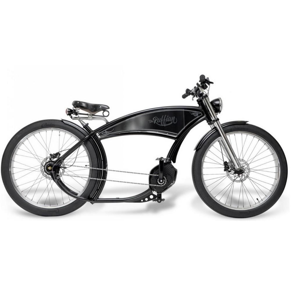 v lo lectrique style moto the ruffian moteur et batterie bosch. Black Bedroom Furniture Sets. Home Design Ideas