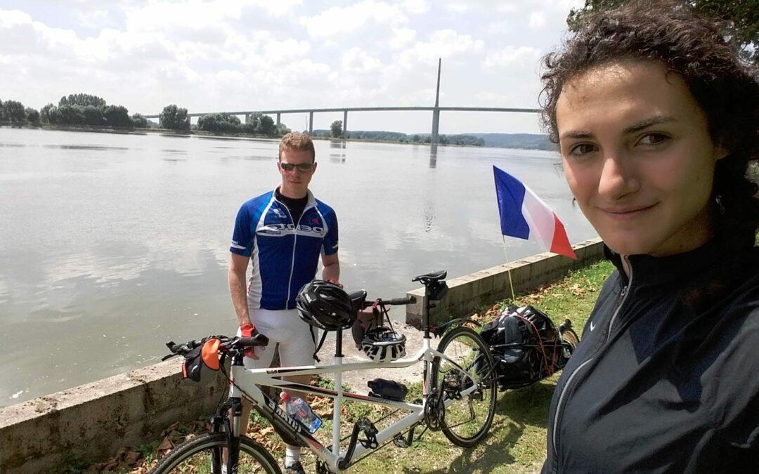 2608 kms en vélo Tandem par Coralie et Samy