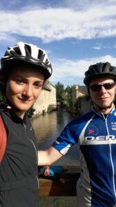 Coralie et Samy en route sur les chemin de France pour la préparation des JO