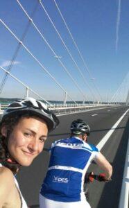 Le tour de France en Tandem Pont de Normandie