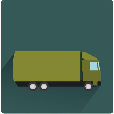 Nous travaillons avec 3 transporteurs.