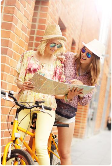 Profitez entre amis de la liberté du vélo
