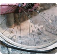 Photo pneu crevé