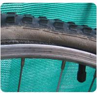 Entretien vélo pneu sec