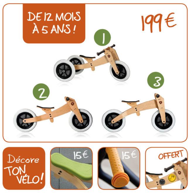 Vélo sans pédale wishbone de 1 à 5 ans