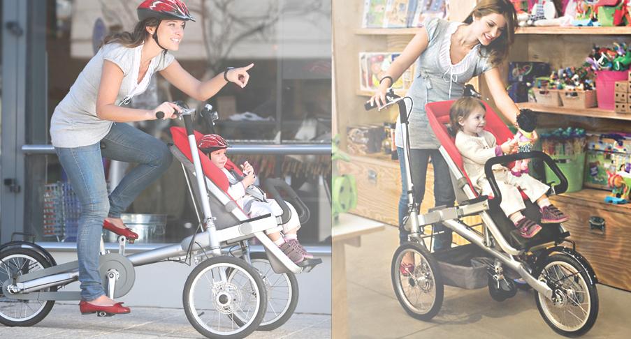 Poussette que se transforme en vélo Taga Bikes