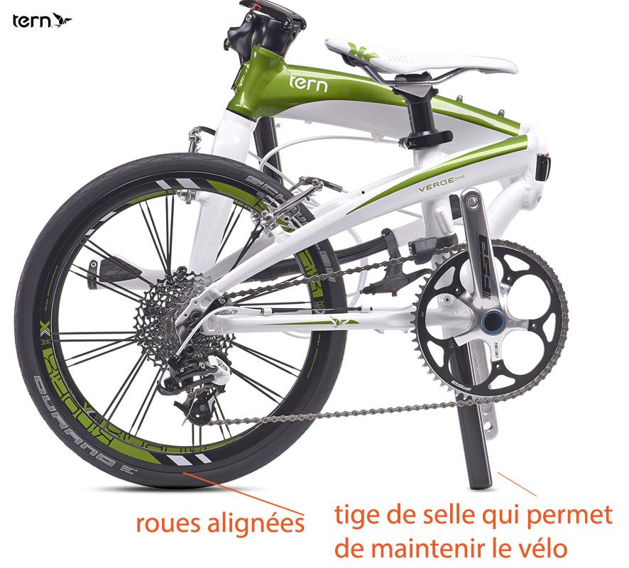 Vélo pliable Tern technique pour le plier