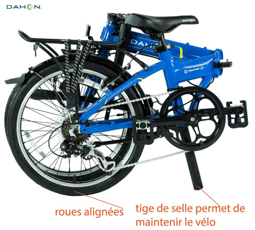 Technique de pliage vélo pliant Dahon