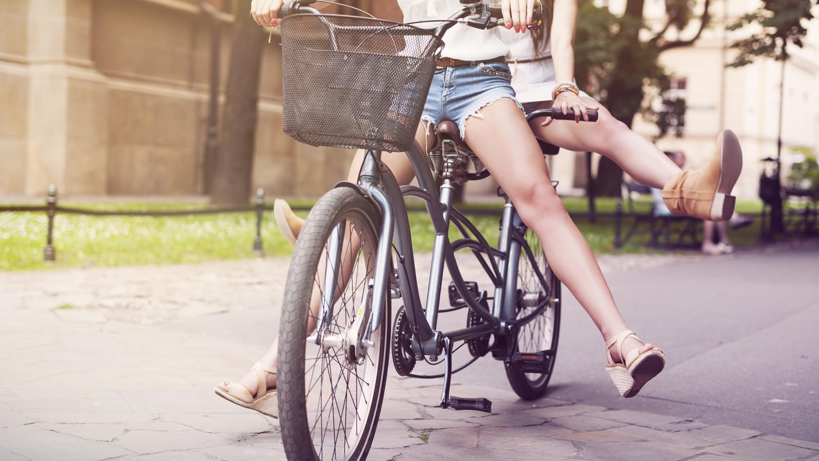 Vélo tandem pour faire du vélo à 2 sur un même vélo