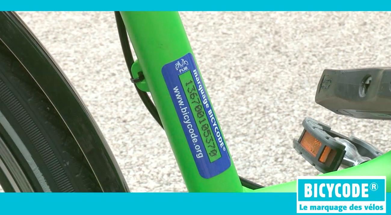 Marquage Bicycode de mon véo