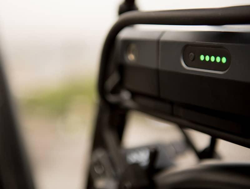 zoom sur batterie de vélo à assistance électrique