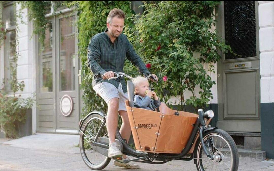 Velo biporteur transport enfant