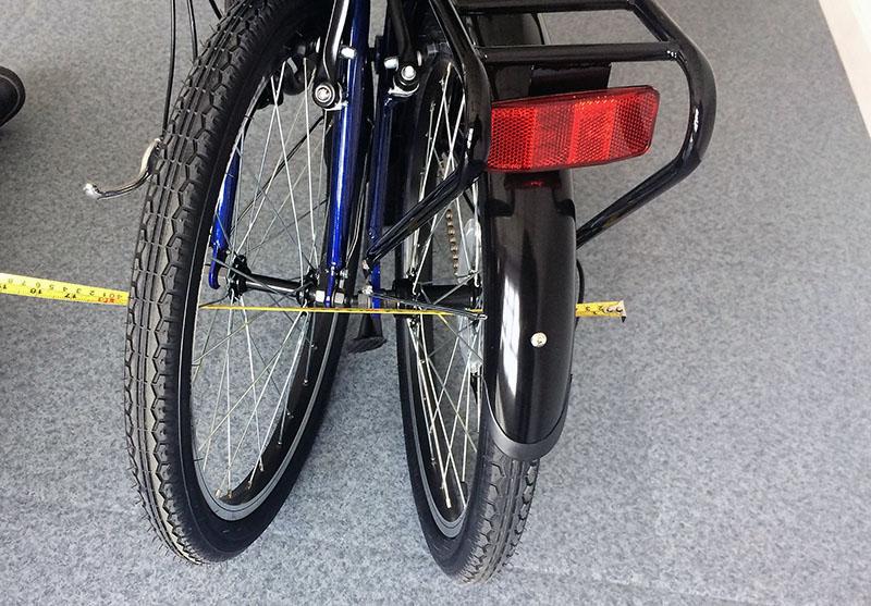 Largeur vélo plié