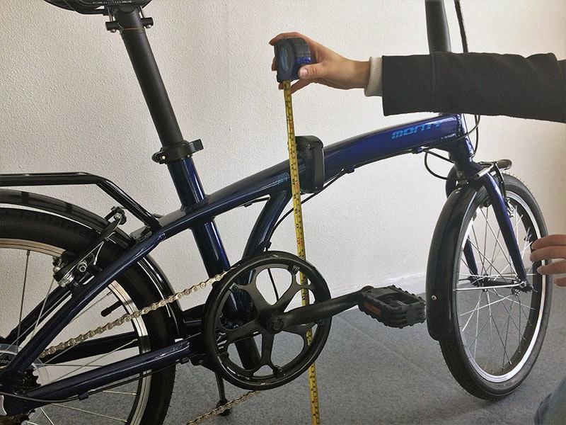 taille du cadre vélo pliant