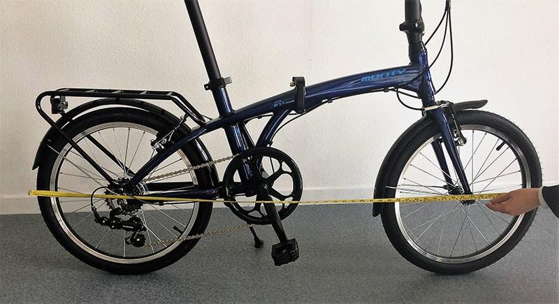 Longueur d'un vélo pliant