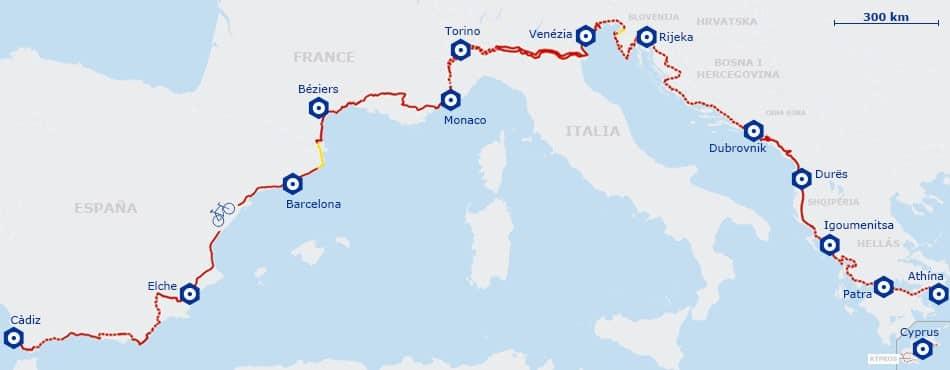 carte euro vélo route 8